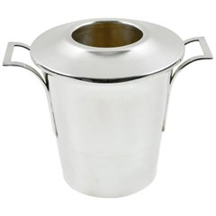 French 1930s Art Deco Barware Silver Plate Champagne Ice Bucket or Wine Cooler