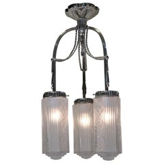 French 1930s Art Deco Chandelier