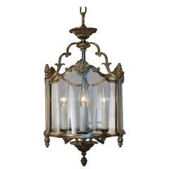 French 1930s Bronze Lantern