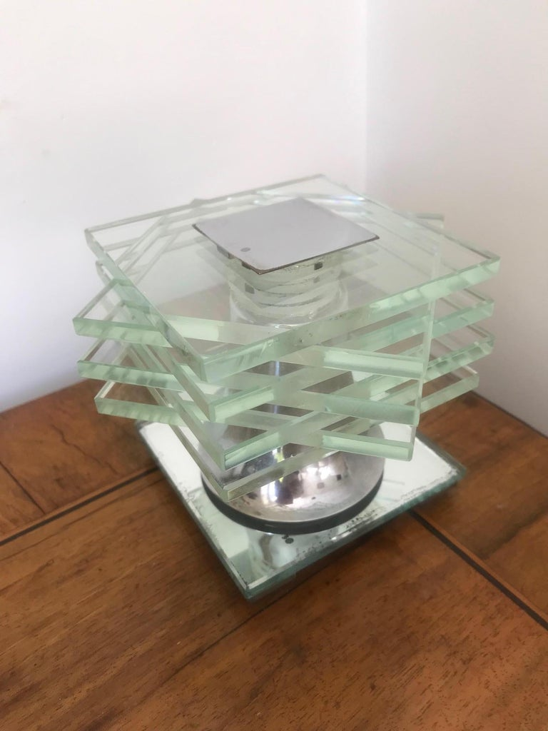 Glass French 1930s Desny Lamp  For Sale