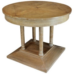 French 1930s Limed Oak Centre Table