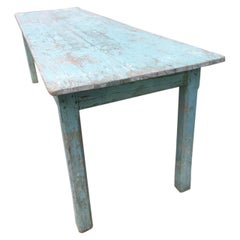 French 1930s Long Table-Plant Nursery Work Table