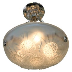 French 1930s Petite Art Deco Chandelier