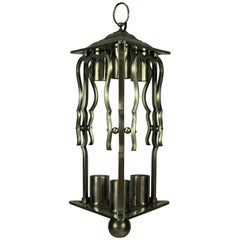 French 1930s Steel Lantern