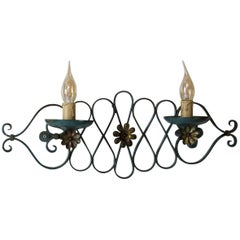 French 1940s Art Deco Iron Sconces