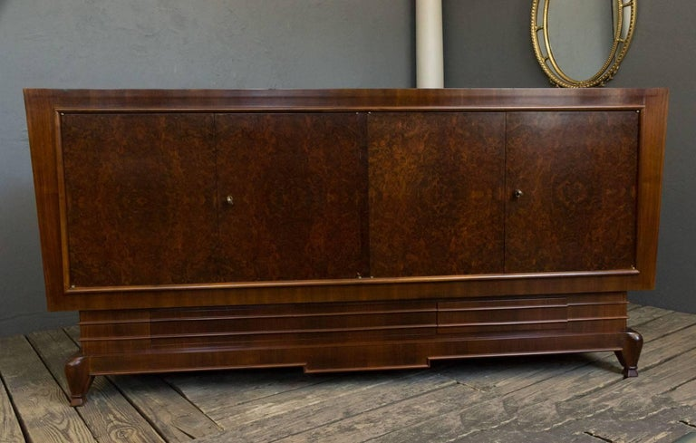 Veneer French 1940s Art Deco Style Sideboard For Sale