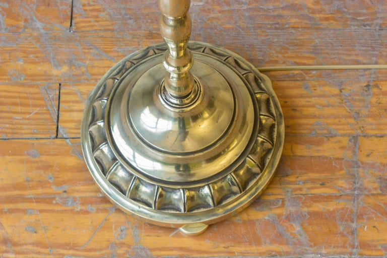 Mid-20th Century French 1940s Brass Floor Lamp For Sale