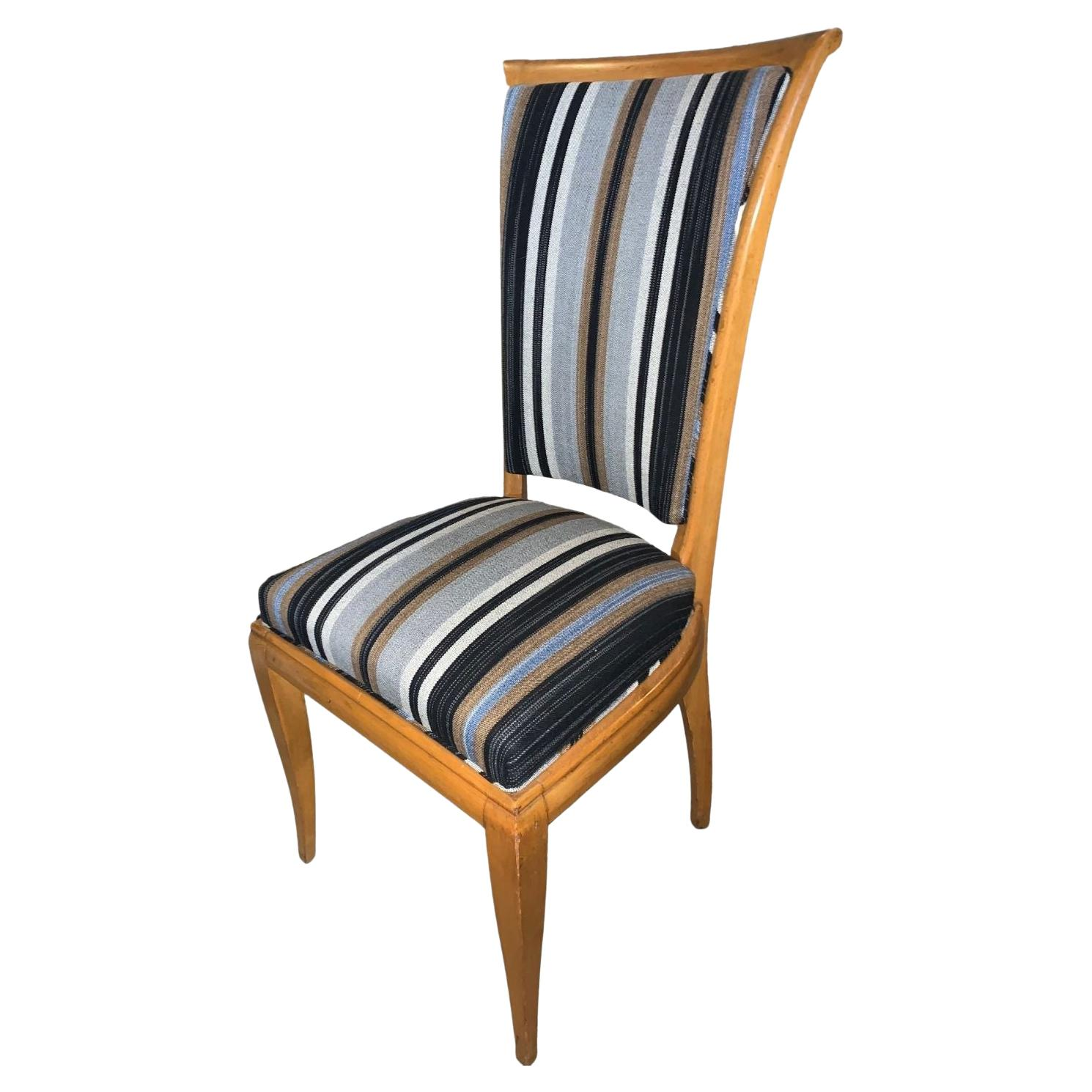 French 1940s Chair in Cherry Wood