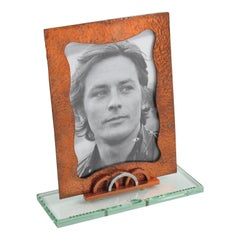 French 1940s Copper Picture Frame