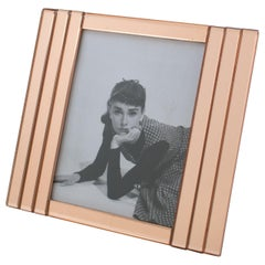 French 1940s Copper Pink Mirror Large Picture Photo Frame