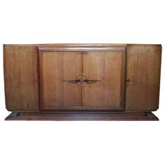 French 1940s Mahogany Veneered Sideboard