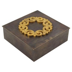 French 1940s Modernist Brass Cigar Box