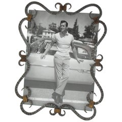 French 1940s Modernist Wrought Iron Picture Photo Frame
