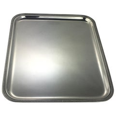 French 1940s Silver Plated Serving Tray