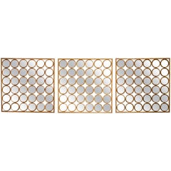 French 1940s Sorcière Bronze Triptych Mirrors