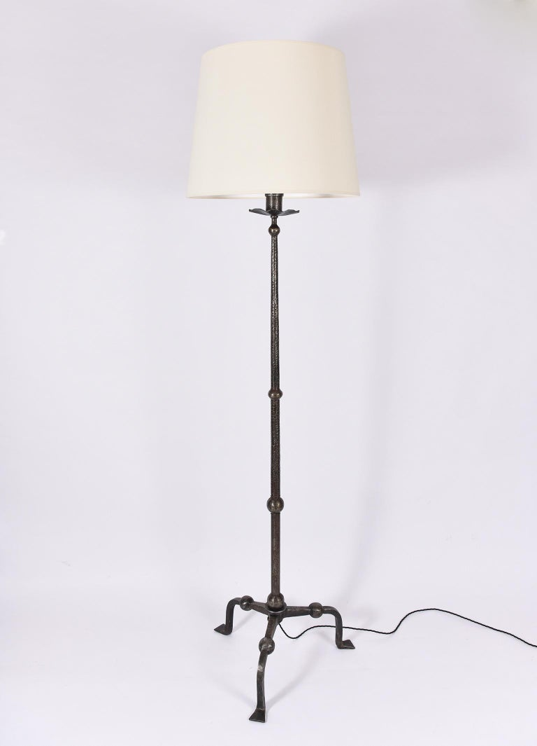 french 1940s wrought iron floor lamp at 1stdibs