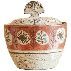 French 1950s Ceramic Lidded Jar by Gustave Reynaud