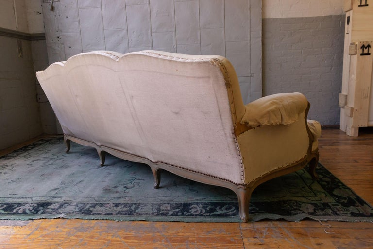 Large French 1950s Louis XV Style Sofa For Sale 1
