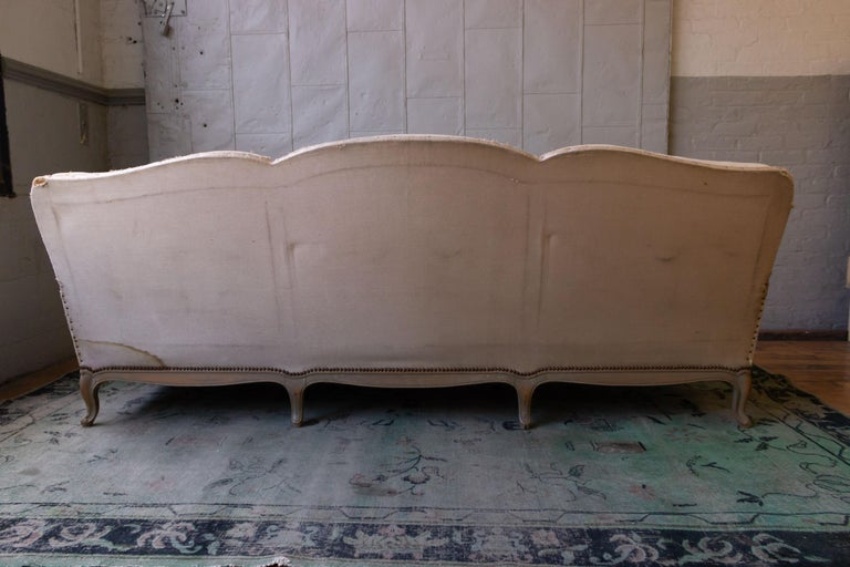 Large French 1950s Louis XV Style Sofa For Sale 2