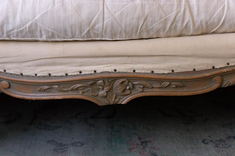 Large French 1950s Louis XV Style Sofa For Sale 4