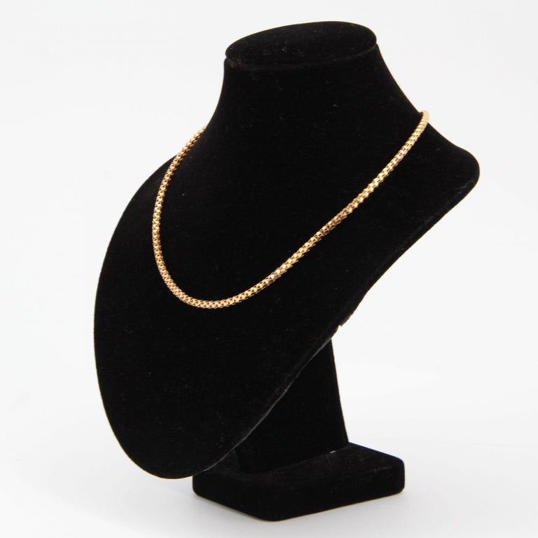 French 1950s Orvet Mesh 18 Karat Rose Gold Chain In Good Condition For Sale In Poitiers, FR