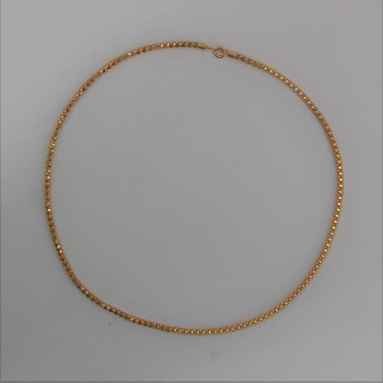 French 1950s Orvet Mesh 18 Karat Rose Gold Chain For Sale 3