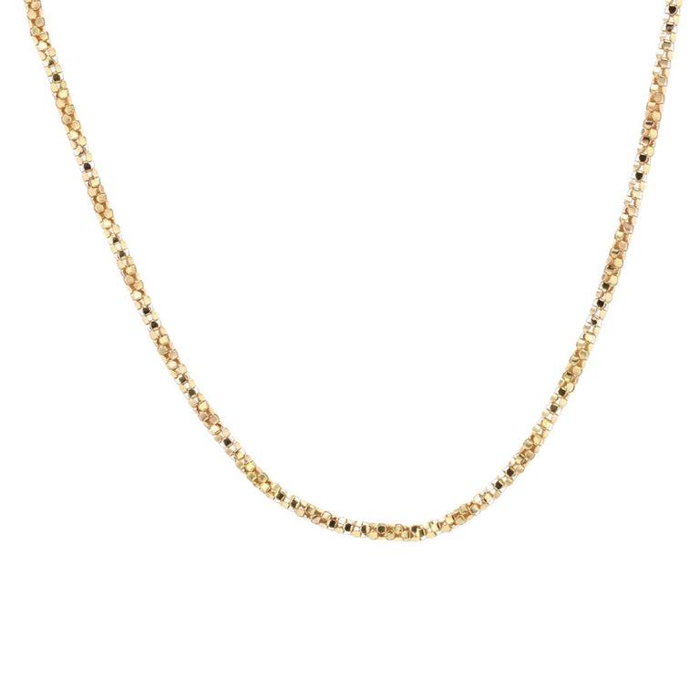 French 1950s Orvet Mesh 18 Karat Rose Gold Chain For Sale 4