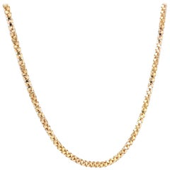 French 1950s Orvet Mesh 18 Karat Rose Gold Chain