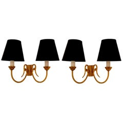 French 1950s Pair of Sconces.3 pairs available