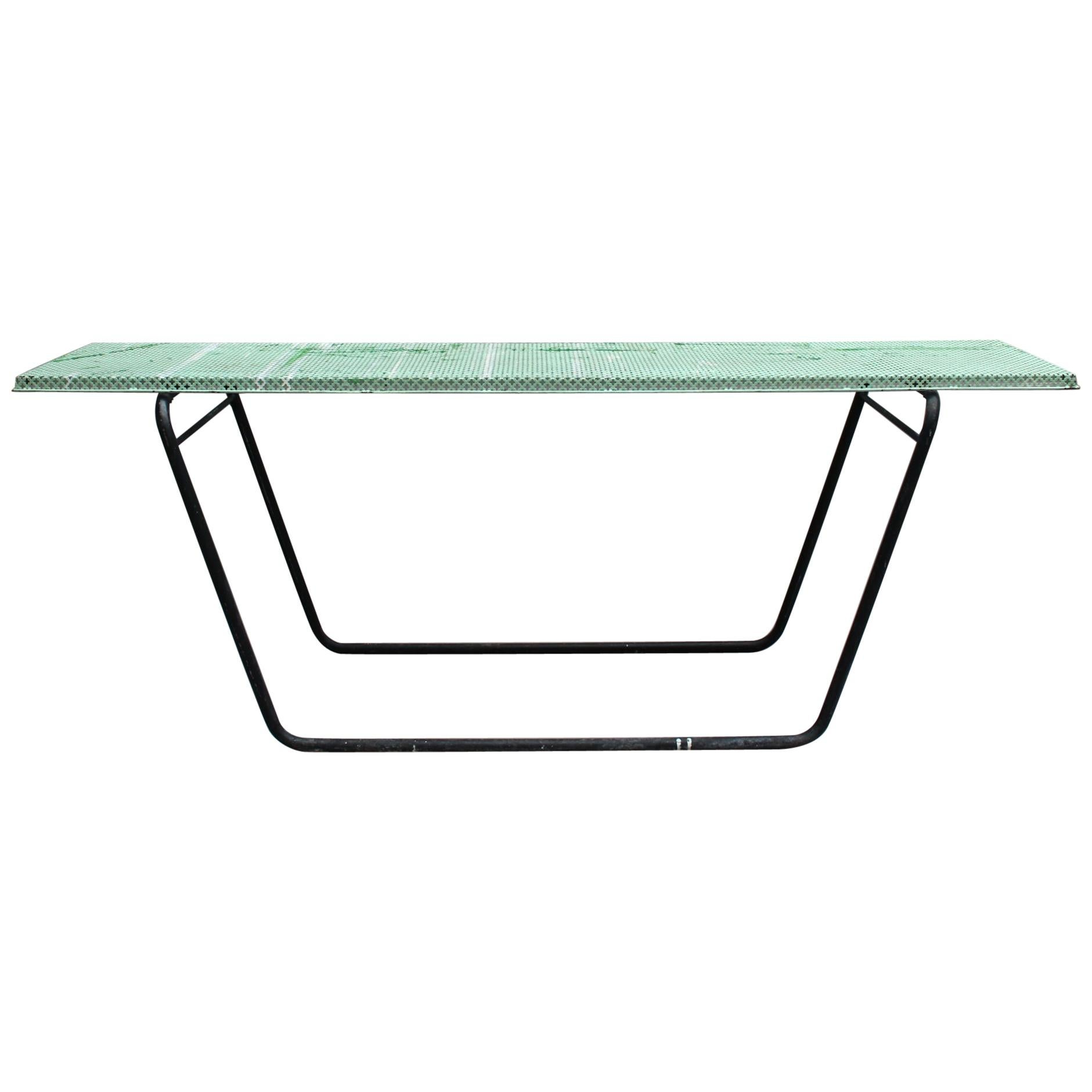 French 1950s Perforated Metal Console in the Style of Mathieu Matégot