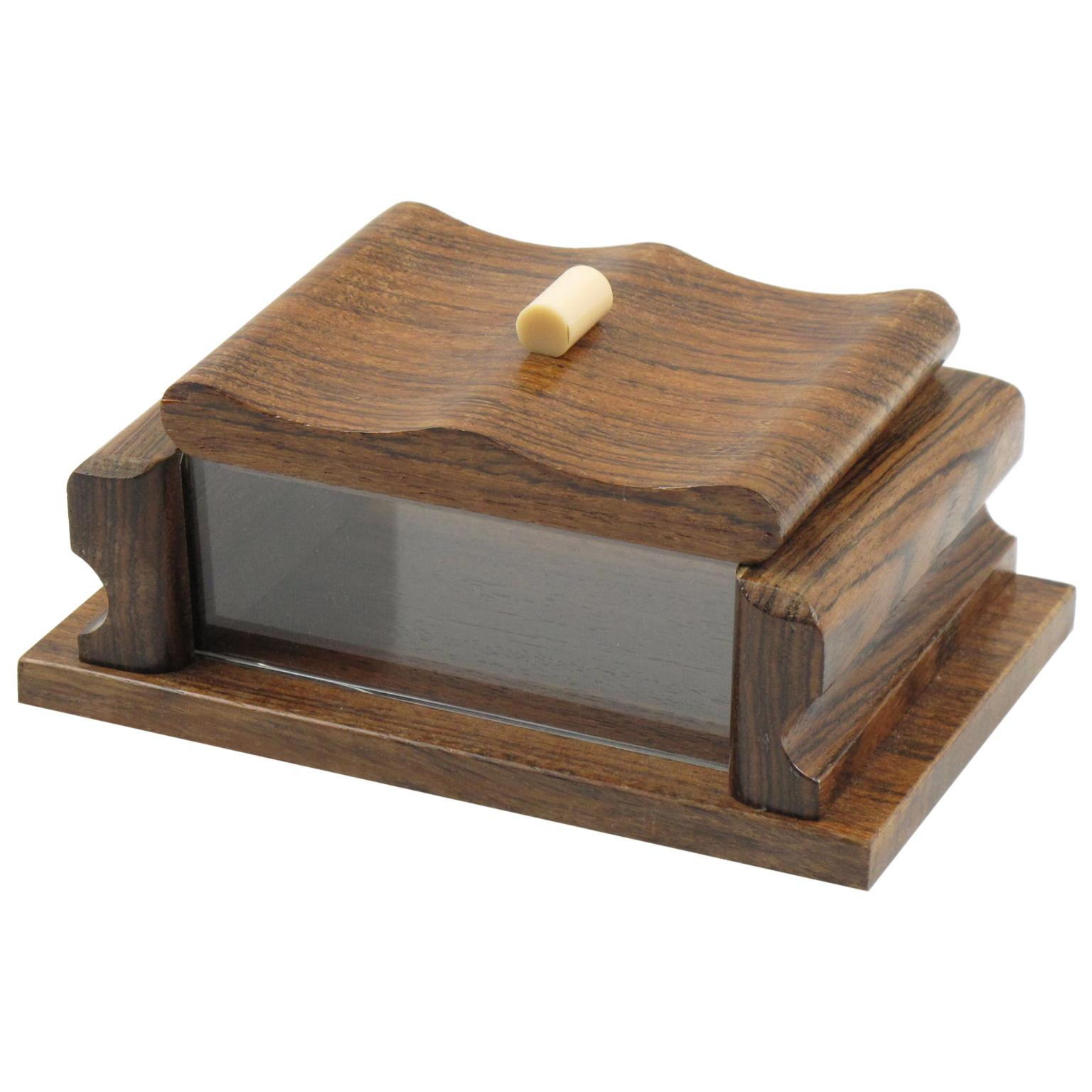 French 1950s Rosewood and Lucite Box