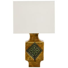 French 1960s Ceramic Glazed Table Lamp