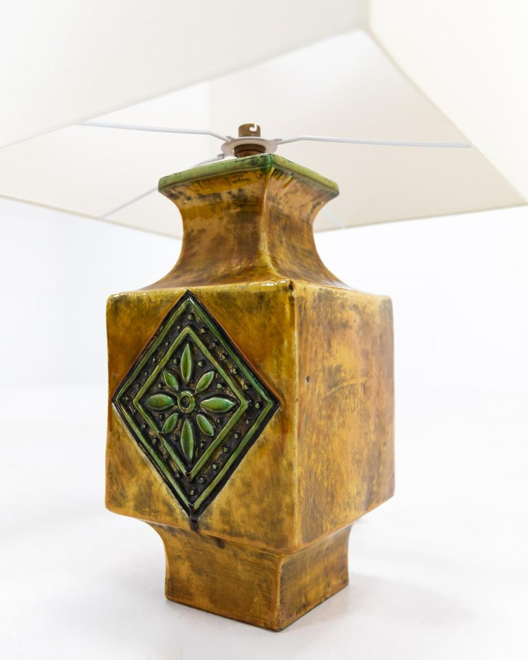 Stylish French 1960s ceramic glazed table lamp.