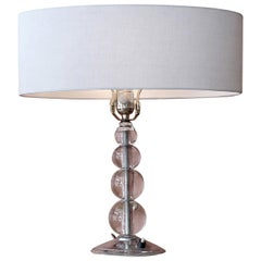 French 1960s Glass Table Lamp