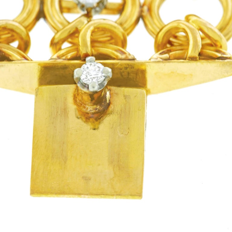 French 1960s Gold Bracelet For Sale 1