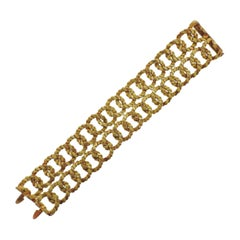 French 1960s Gold Wide Bracelet