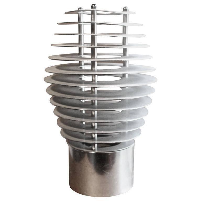 French, 1970s Aluminium Table Lamp