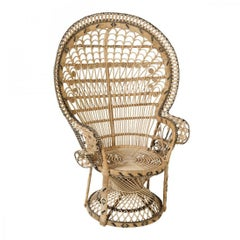 French 1970s Design Emmanuelle Rattan Armchair