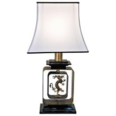 French 1970s Dragon Table Lamp