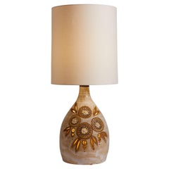 French 1970s Georges Pelletier Large Ceramic Table Lamp