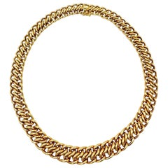 French 1970s Yellow Gold Chain Necklace