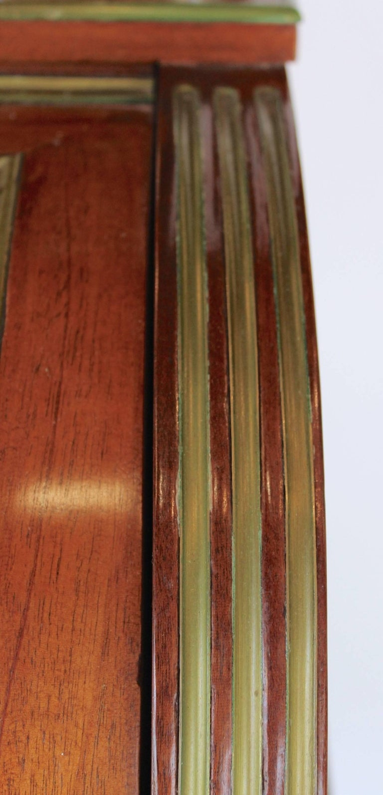 French 19th Century Mahogany Veneer and Brass inlaid