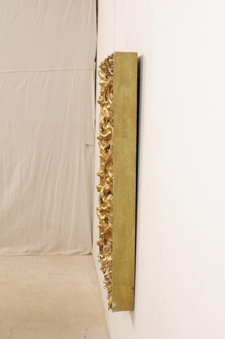 French 19th Century Rectangular-Shaped, Rococo Carved and Giltwood Mirror For Sale 6