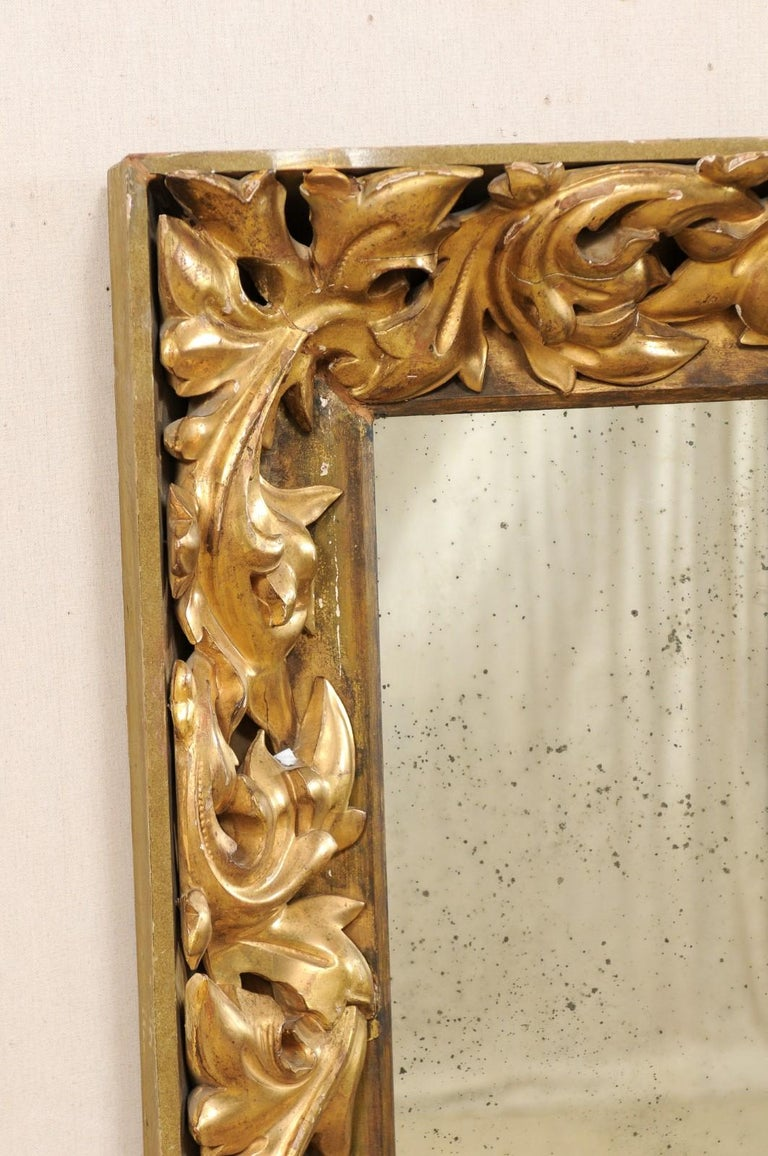 French 19th Century Rectangular-Shaped, Rococo Carved and Giltwood Mirror In Good Condition For Sale In Atlanta, GA