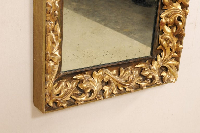 French 19th Century Rectangular-Shaped, Rococo Carved and Giltwood Mirror For Sale 2