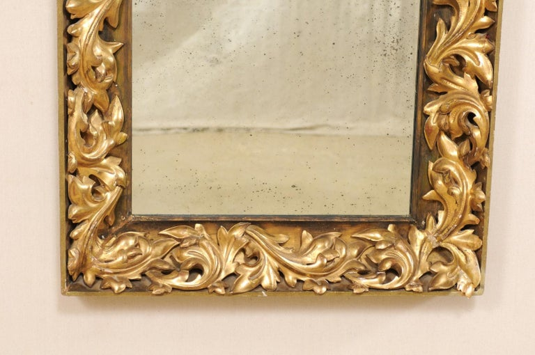 French 19th Century Rectangular-Shaped, Rococo Carved and Giltwood Mirror For Sale 3