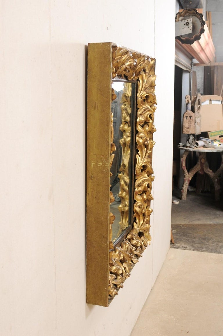 French 19th Century Rectangular-Shaped, Rococo Carved and Giltwood Mirror For Sale 4