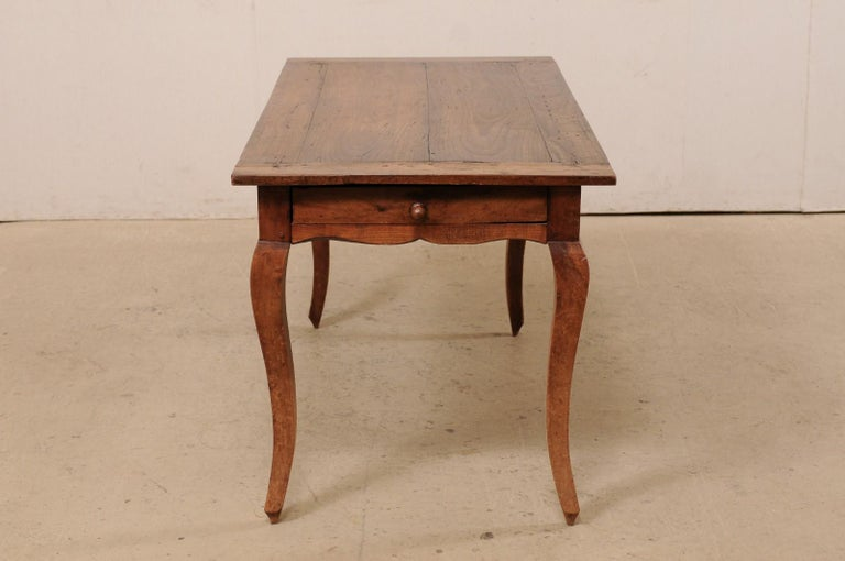 French 19th C. Table w/Scalloped Apron & Single Drawer For Sale 5