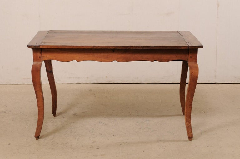 French 19th C. Table w/Scalloped Apron & Single Drawer For Sale 7