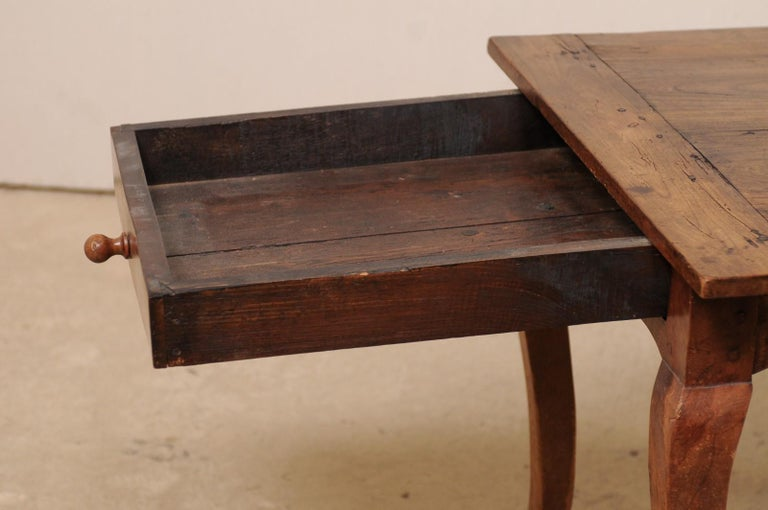 French 19th C. Table w/Scalloped Apron & Single Drawer For Sale 4